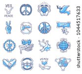 peace vector peaceful symbol of ...   Shutterstock .eps vector #1044517633