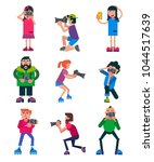 photographer vector character... | Shutterstock .eps vector #1044517639