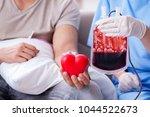 patient getting blood...   Shutterstock . vector #1044522673