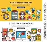 customer support  customer... | Shutterstock .eps vector #1044522754