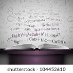 book on table with scientific... | Shutterstock .eps vector #104452610