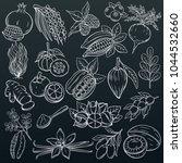 vector hand drawn sketch... | Shutterstock .eps vector #1044532660