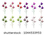 spring flowers tulips isolated...   Shutterstock . vector #1044533953