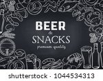 pub food hand drawn template... | Shutterstock .eps vector #1044534313