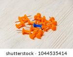 stationary  orange  blue... | Shutterstock . vector #1044535414