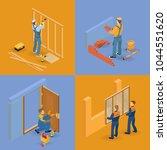 isometric interior repairs... | Shutterstock .eps vector #1044551620