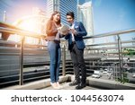 asian young businesswoman...   Shutterstock . vector #1044563074
