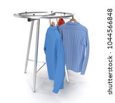 round clothing rack with shirts ... | Shutterstock . vector #1044566848