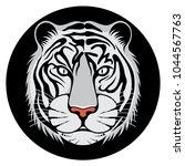 head of tiger white badges logo ... | Shutterstock .eps vector #1044567763