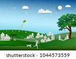 back to nature and save the... | Shutterstock .eps vector #1044573559