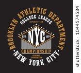 new york city  brooklyn... | Shutterstock .eps vector #1044574534