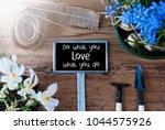 sunny spring flowers  sign ... | Shutterstock . vector #1044575926