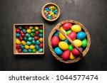 decoration for easter  colored... | Shutterstock . vector #1044577474
