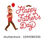 happy father's day typography... | Shutterstock .eps vector #1044580330