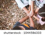 top view of asian children... | Shutterstock . vector #1044586333