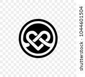 heart logo vector infinity loop ... | Shutterstock .eps vector #1044601504