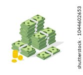 big pile of cash. concept of... | Shutterstock .eps vector #1044602653