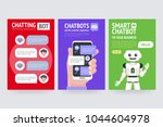 chatbot business concept.... | Shutterstock .eps vector #1044604978