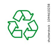 green recycle icon isolated on...   Shutterstock .eps vector #1044610258