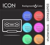 cassette tape vector icon...   Shutterstock .eps vector #1044616903