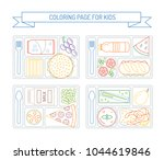 coloring pages for kids with... | Shutterstock .eps vector #1044619846