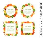 fruit juicy frames set. vector...   Shutterstock .eps vector #1044619858