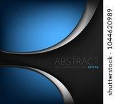blue curve background overlap...   Shutterstock .eps vector #1044620989