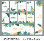 green tropical greeting card...   Shutterstock .eps vector #1044625129