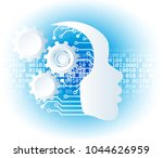 artificial intelligence. a.i.... | Shutterstock .eps vector #1044626959