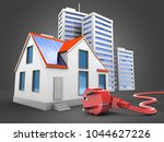 3d illustration of modern house ... | Shutterstock . vector #1044627226