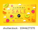 summer sale banner template... | Shutterstock .eps vector #1044627370