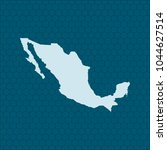 map of mexico | Shutterstock .eps vector #1044627514