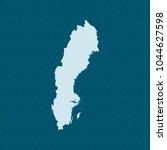map of sweden | Shutterstock .eps vector #1044627598