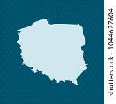 map of poland | Shutterstock .eps vector #1044627604