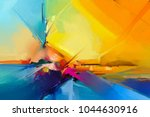 abstract colorful oil painting... | Shutterstock . vector #1044630916