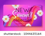 summer new collection banner... | Shutterstock .eps vector #1044635164