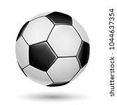 soccer ball on white background.... | Shutterstock .eps vector #1044637354