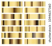 illustration set golden texture ... | Shutterstock .eps vector #1044637360