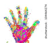 hand color spots | Shutterstock .eps vector #104464274
