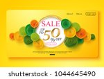 colorful banner decorated with... | Shutterstock .eps vector #1044645490