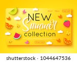summer new collection banner... | Shutterstock .eps vector #1044647536