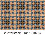seamless pattern ethnic design... | Shutterstock . vector #1044648289