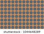 seamless pattern ethnic design... | Shutterstock . vector #1044648289