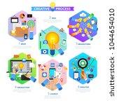 flat design concept creative... | Shutterstock .eps vector #1044654010