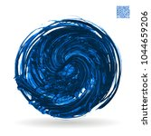 blue brush stroke and texture.... | Shutterstock .eps vector #1044659206