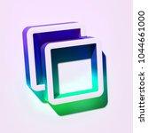 white clone icon. 3d... | Shutterstock . vector #1044661000