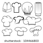 chef hat collection | Shutterstock .eps vector #104466803
