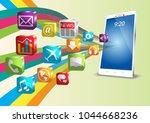 smartphone application internet ... | Shutterstock .eps vector #1044668236