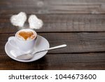 cup of coffee with ehart shape...   Shutterstock . vector #1044673600