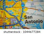 san antonio on usa map | Shutterstock . vector #1044677284